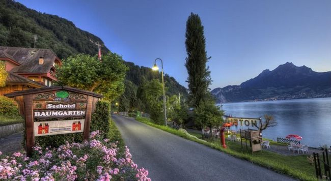 Seehotel baumgarten kehrsiten switzerland tourism for Baum garten